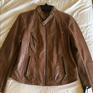 NWT Bernardo Leather Moto Jacket